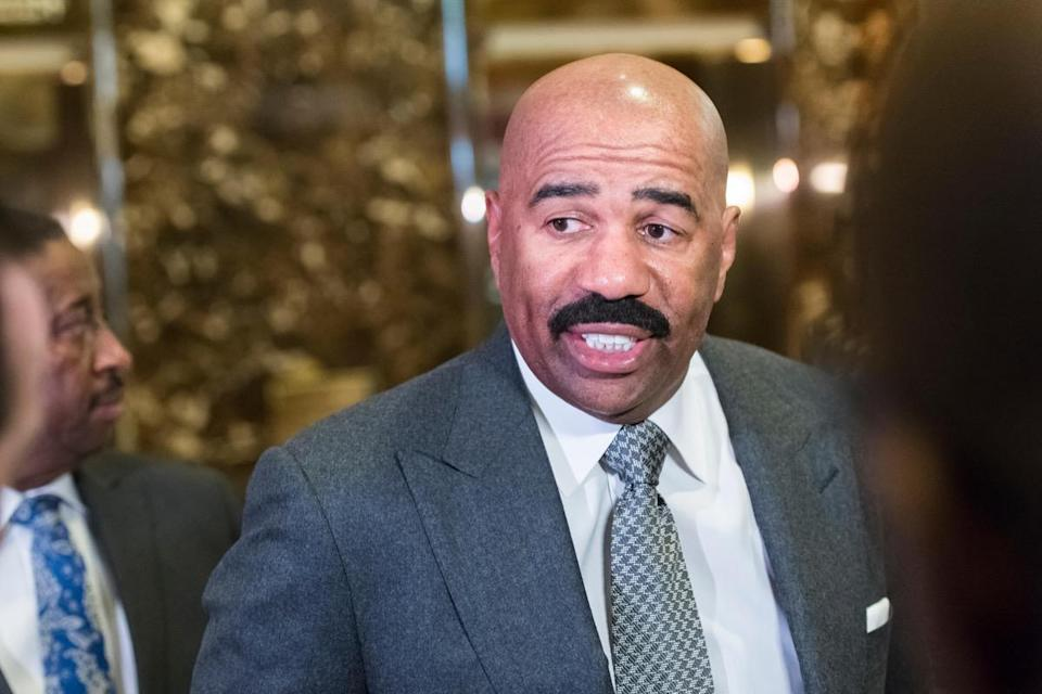 "<em>Family Feud</em> host <strong>Steve Harvey</strong> was raised in the small town of <a href=""https://www.biography.com/personality/steve-harvey"" rel=""nofollow noopener"" target=""_blank"" data-ylk=""slk:Welch, West Virginia"" class=""link rapid-noclick-resp"">Welch, West Virginia</a>, before his family moved to Cleveland, Ohio. Even then, Harvey would spend summers on his grandfather's farm in West Virginia, which was a formative experience for him. ""A farmer really understands more than most people will ever achieve in their life. I really respect farmers and their commitment,"" Harvey said on his <a href=""https://www.youtube.com/watch?v=uuShMDtIldY"" rel=""nofollow noopener"" target=""_blank"" data-ylk=""slk:YouTube"" class=""link rapid-noclick-resp"">YouTube</a> channel."
