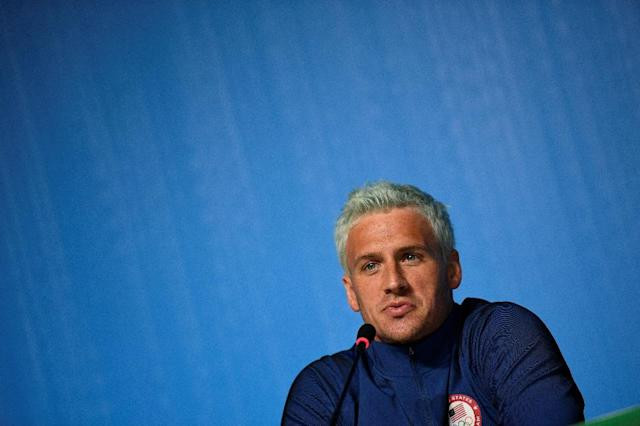 Ryan Lochte made a bogus gunpoint robbery story during a boozy night out with some American teammates at the 2016 Rio Olympic Games (AFP Photo/Martin Bureau)