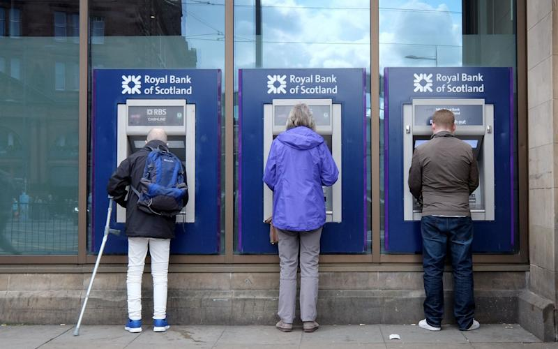 The volume of cash withdrawals from ATMs declined year-on-year across the UK in early 2019, according to a Link report published today. - PA