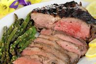 """<p>A recipe worthy of a holiday table or an evening when you're sick of beef and pork, this grilled leg of lamb has a classic marinade made of Dijon mustard, red wine and plenty of herbs.</p> <p><a href=""""https://www.thedailymeal.com/recipes/marinated-grilled-leg-lamb-recipe-0?referrer=yahoo&category=beauty_food&include_utm=1&utm_medium=referral&utm_source=yahoo&utm_campaign=feed"""" rel=""""nofollow noopener"""" target=""""_blank"""" data-ylk=""""slk:For the Marinated Grilled Leg of Lamb recipe, click here."""" class=""""link rapid-noclick-resp"""">For the Marinated Grilled Leg of Lamb recipe, click here.</a></p>"""