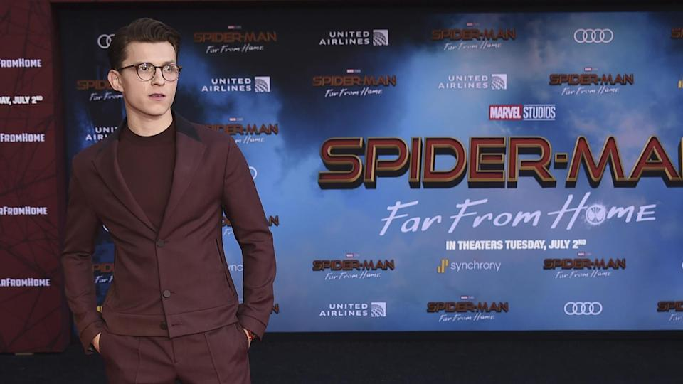 """Tom Holland at the world premiere of """"Spider-Man: Far From Home."""" - Credit: Jordan Strauss/Invision/AP"""