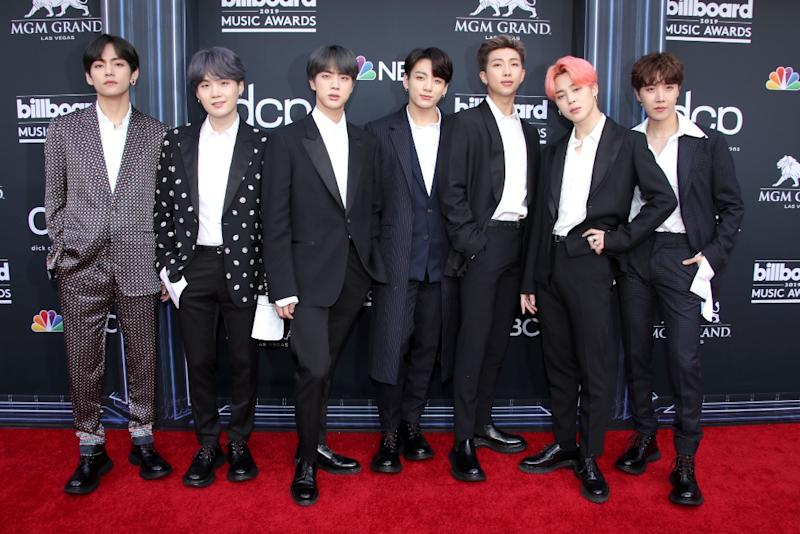 BTS Members Suit Up in Shoes Made for Jumping at the 2019