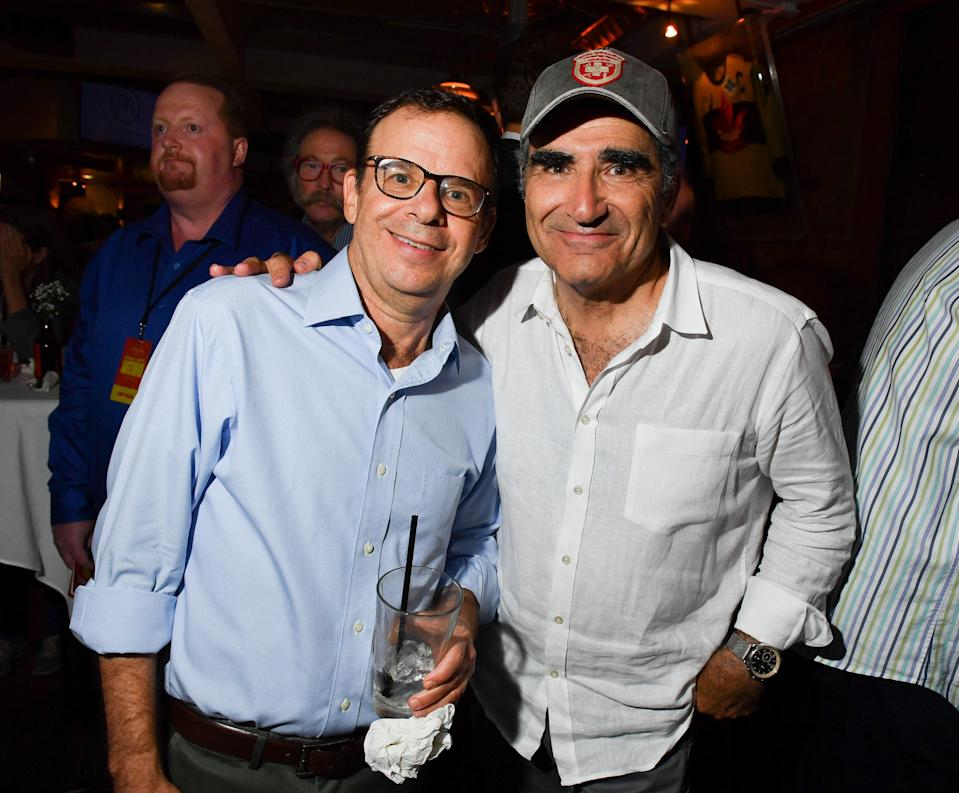 TORONTO, ON - JULY 18: SCTV cast Rick Moranis and Eugene Levy attend the Dave Thomas And The Second City Present 'Take Off, EH!' An All-Star Benefit after party for Jake Thomas And Spinal Cord Injury Ontario held at Wayne Gretzky's on July 18, 2017 in Toronto, Canada. (Photo by George Pimentel/Getty Images)
