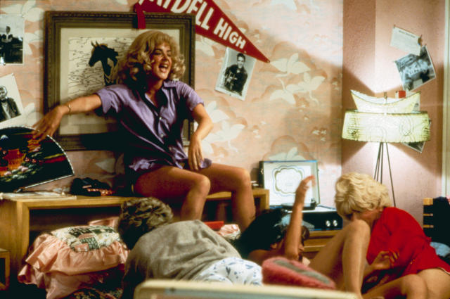 The slumber party scene in <em>Grease</em>, featuring Stockard Channing, Didi Conn, Jamie Donnelly, and Dinah Manoff. (Photo: Courtesy Paramount/Everett Collection).