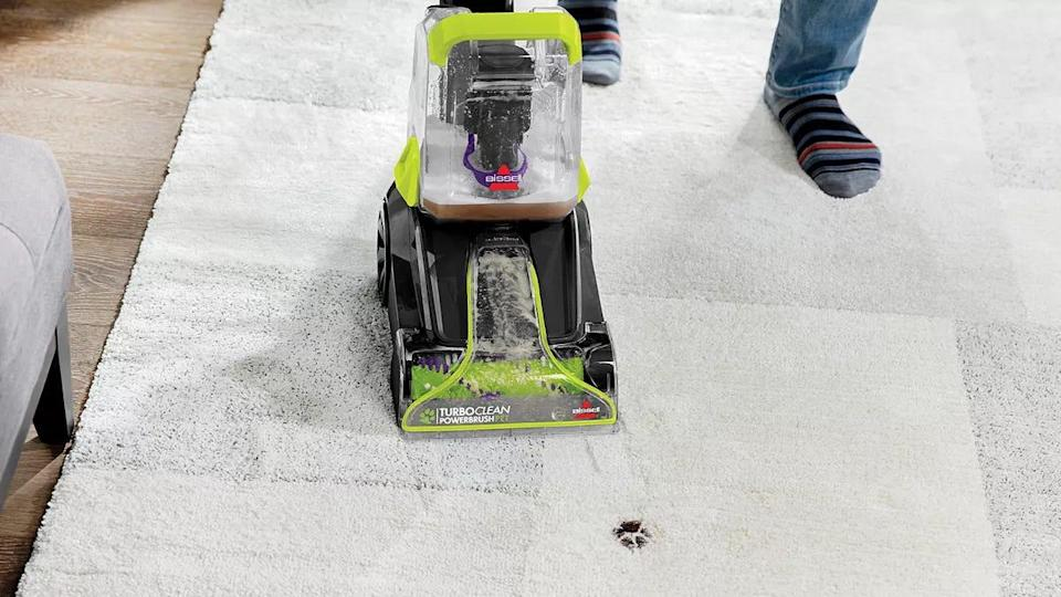 Customers enjoyed this Bissell carpet cleaner for being both easy to operate and easy to store at home.