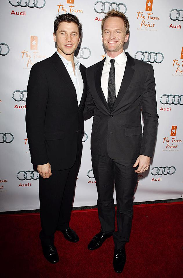 "Neil Patrick Harris and his main squeeze David Burtka kept it classy in simple yet chic suits. Jean Baptiste Lacroix/<a href=""http://www.wireimage.com"" target=""new"">WireImage.com</a> - December 6, 2009"