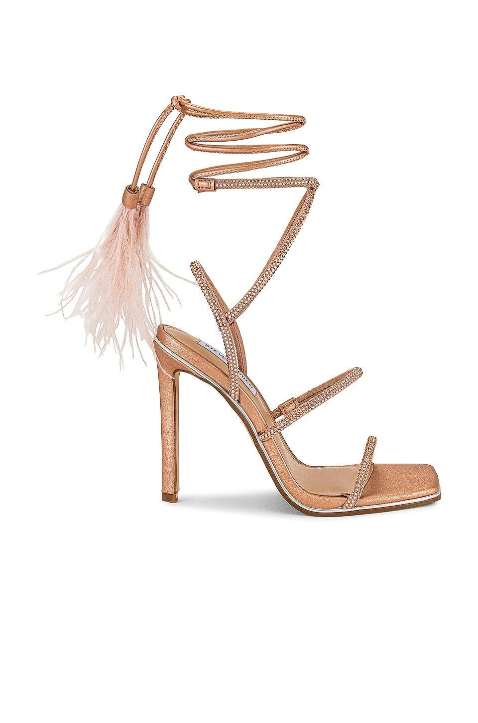 <p>These <span>Steve Madden Upgrade Sandals</span> ($110) make us smile. From the sparkly straps to the feathered ties, these are the shoes that will stand out from the crowd.</p>