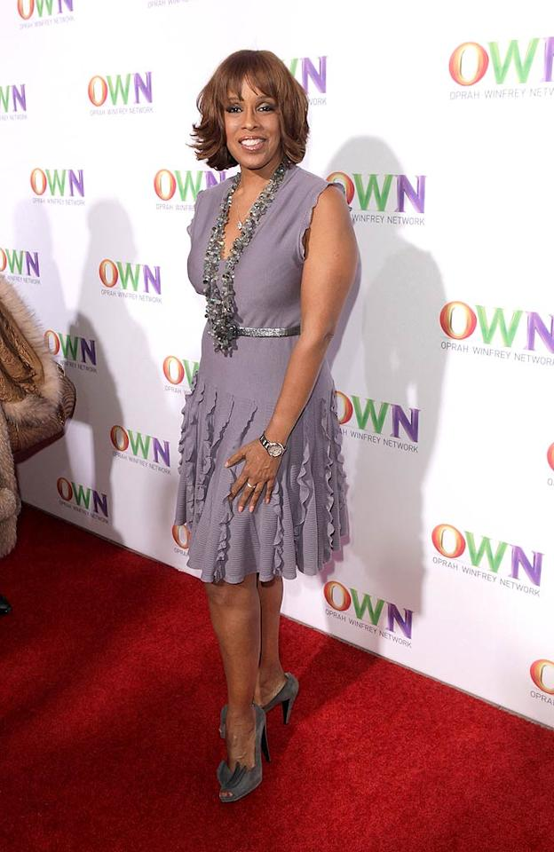 "Of course, Oprah's BFF Gayle King was right behind her in the arrivals line! Gayle's radio program -- The Gayle King Show -- is now being broadcast daily on OWN at 10 a.m. ET/PT. Todd Williamson/<a href=""http://www.wireimage.com"" target=""new"">WireImage.com</a> - January 6, 2011"