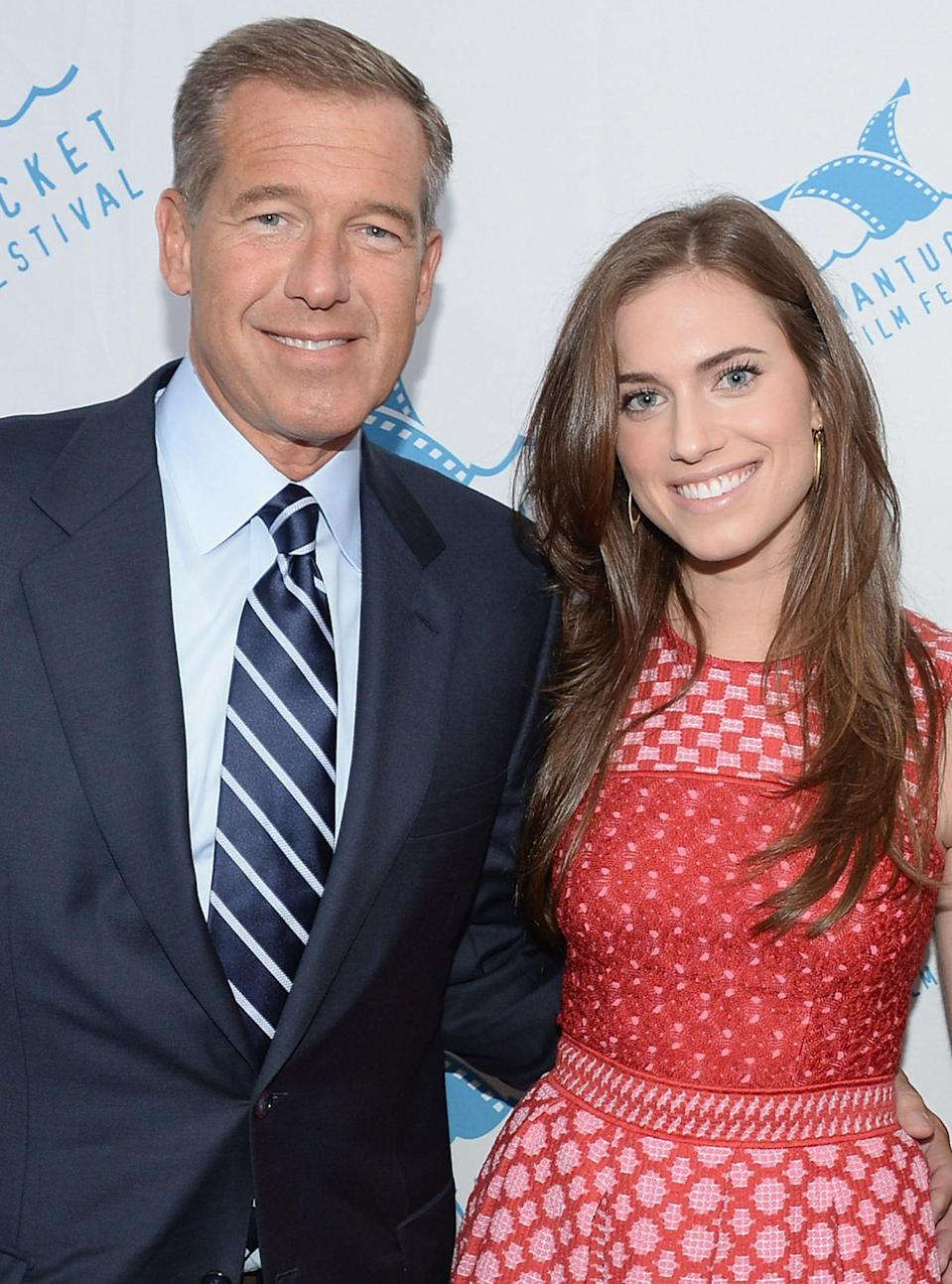 <p>Dad and daughter both work in front of the camera - just different jobs. The <em>Girls </em>star is the daughter of the longtime national news anchor.</p>