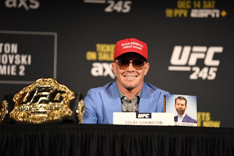 Colby Covington is having his moment. (Photo by Josh Hedges/Zuffa LLC via Getty Images)
