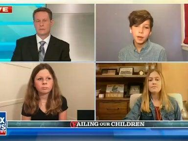 <p>In the segment on Wednesday, Mr Kilmeade asked three young schoolchildren what they missed the most about being in the classroom</p> (Fox News)