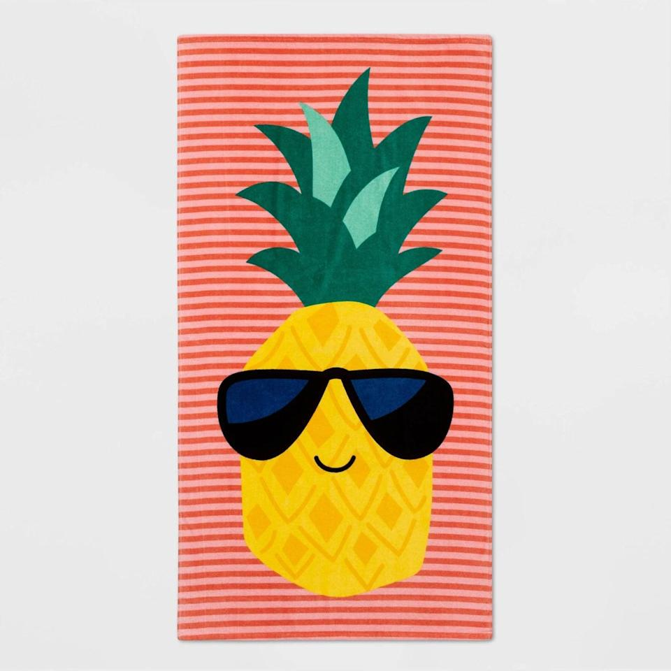 <p>Keep it cool with this fun and playful <span>Sun Squad Pineapple Beach Towel Red/Yellow</span> ($10).</p>