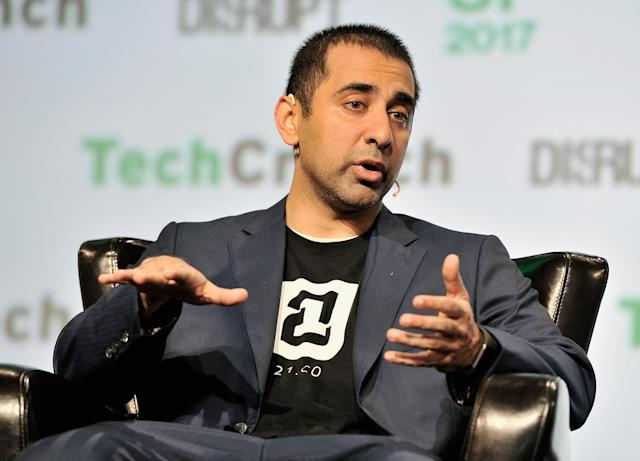 Balaji Srinivasan at TechCrunch Disrupt in San Francisco on September 20, 2017. (Steve Jennings/Getty Images for TechCrunch)