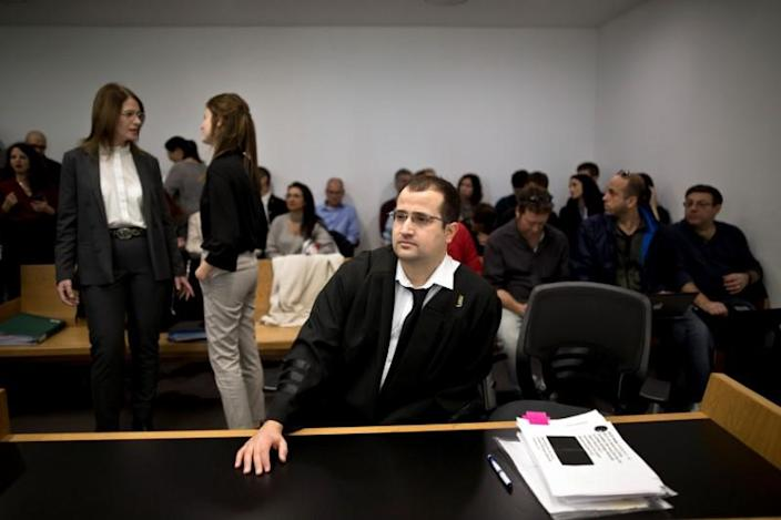 Attorney Eitay Mack attends a court hearing on Amnesty International's legal bid to have Israel revoke the export license of the Israeli NSO surveillance firm, at Tel Aviv's District Court, Israel