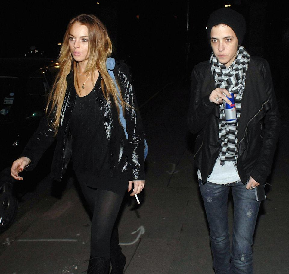 """<p>They broke up in 2009, but these two were off and on for much of the <a href=""""https://www.ranker.com/list/lindsay-lohan-samantha-ronson-relationship/veronica-walsingham"""" rel=""""nofollow noopener"""" target=""""_blank"""" data-ylk=""""slk:two years prior to that"""" class=""""link rapid-noclick-resp"""">two years prior to that</a>. Last year, Lohan told Howard Stern that she and Ronson were """"<a href=""""https://pagesix.com/2019/01/10/lindsay-lohan-was-friends-more-than-anything-with-ex-samantha-ronson/"""" rel=""""nofollow noopener"""" target=""""_blank"""" data-ylk=""""slk:more friends"""" class=""""link rapid-noclick-resp"""">more friends</a> than anything."""" </p>"""