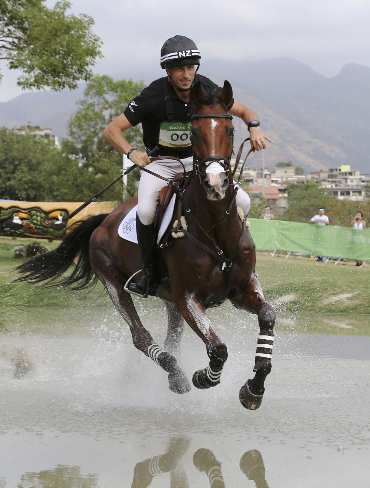 <span>Tim Price took advantage of fellow Wiltshire-based rider Mark Todd's mishap as he moved into the lead following the cross-country at the 2018 Land Rover Burghley Horse Trials.</span>