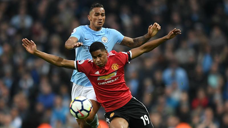 Danilo frustrated with 'long balls' snatching derby victory for Man Utd