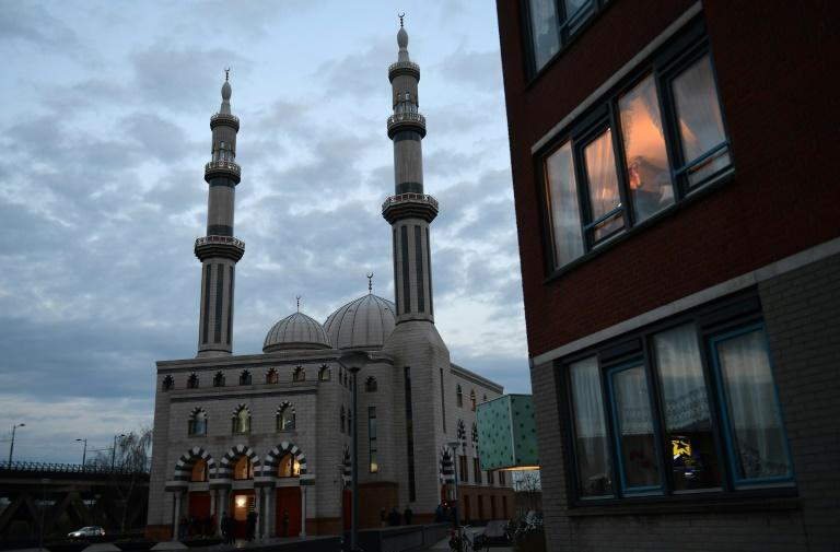 Rotterdam's Essalam mosque is pictured on March 10, 2017, ahead of a debate on the role of Islam in the country