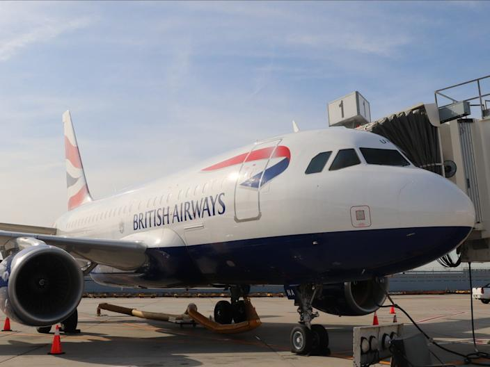A British Airways Airbus A318 aircraft in New York.