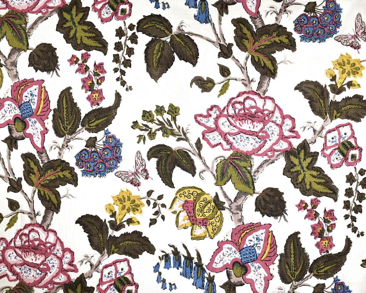 """The storied <a rel=""""nofollow"""" href=""""https://peterfasano.com/"""">Peter Fasano</a> fabric and wallpaper house is having a renaissance under new ownership. For its latest collection, the creative team has gone through the archives editing out a few excessive patterns and colorways and focusing on revitalizing the iconic prints in dreamy colors like Chatsworth, shown here."""