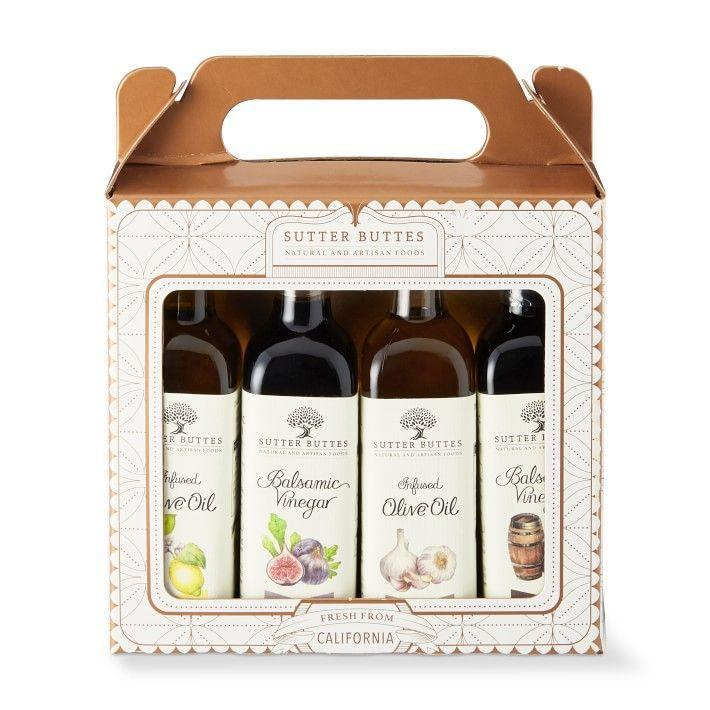 """<p><strong>Sutter Buttes</strong></p><p>williams-sonoma.com</p><p><strong>$17.99</strong></p><p><a href=""""https://go.redirectingat.com?id=74968X1596630&url=https%3A%2F%2Fwww.williams-sonoma.com%2Fproducts%2Fsutter-buttes-infused-oil-gift-set&sref=https%3A%2F%2Fwww.housebeautiful.com%2Fentertaining%2Fholidays-celebrations%2Fg34428704%2Fgifts-for-neighbors%2F"""" rel=""""nofollow noopener"""" target=""""_blank"""" data-ylk=""""slk:BUY NOW"""" class=""""link rapid-noclick-resp"""">BUY NOW</a></p><p>Infused oil and vinegar makes a great gift because it can come in handy in so many dish</p>"""