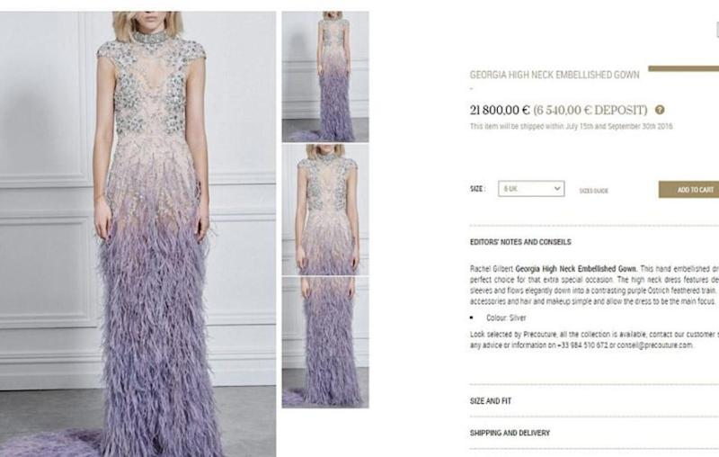 But it came with an expensive price tag. Source: precouture.com