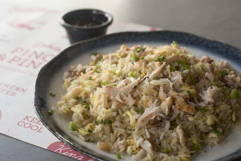 Crabmeat fried rice. Photo: Pince & Pints