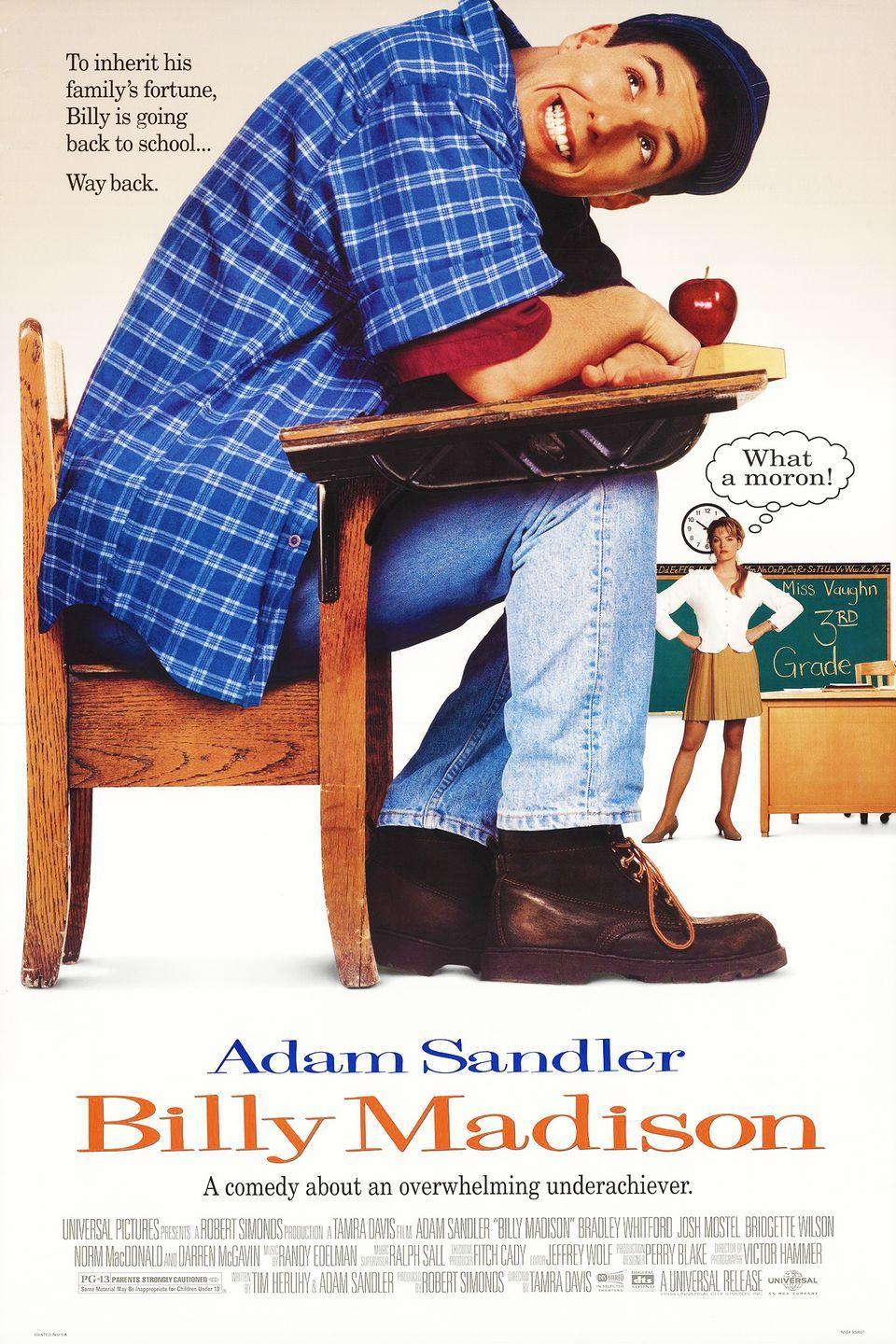 <p><strong>Role: </strong>Billy Madison<br></p><p>Adam Sandler's breakthrough performance (what a weird thing to type) sees him as a super-rich manchild who somehow cons everyone into believing he's charming and endearing. Kinda makes you think, doesn't it?<br></p>