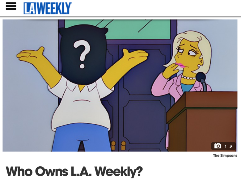 L A  Weekly Slashes Staff, Laying Off Film Critic April