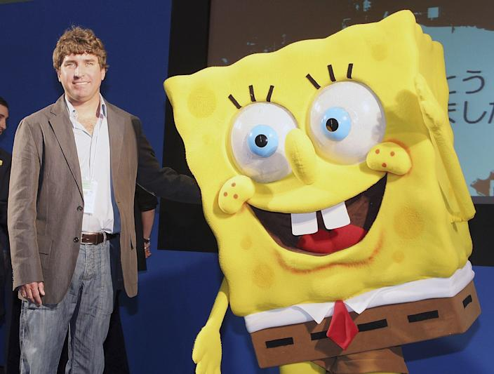 SpongeBob SquarePants was described by creator Stephen Hillenburg as 'asexual'. (Photo by Junko Kimura/Getty Images)