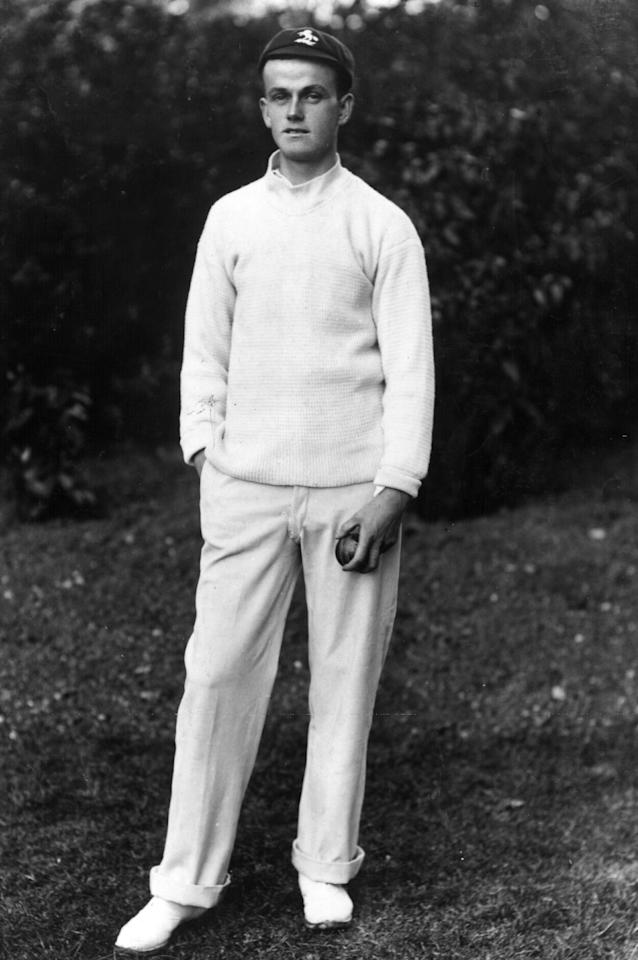 circa 1915:  The cricketer Colin Blythe ( - 1917) who was killed in Passchendale. There is a monument to him at the ground in Canterbury.  (Photo by Hulton Archive/Getty Images)