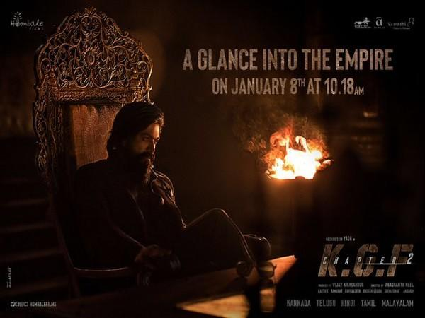 New poster of 'KGF: Chapter 2' (Image Source: Twitter)