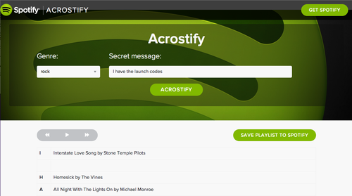 Acrostify screenshot