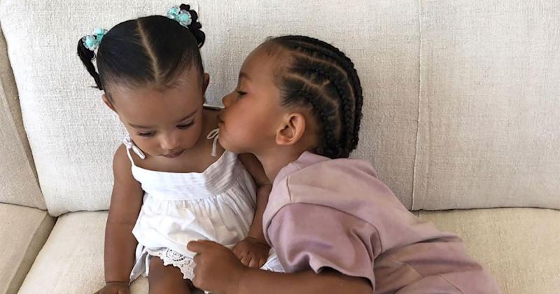 8a2a2cb2873df Kim Kardashian Shares Sweet Photo of Kids Saint & Chicago as They Await  Arrival of Baby Brother