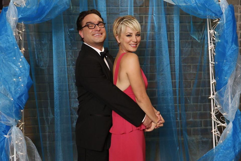 "<p>Penny + Leonard = an uber cheesy prom picture that we're obsessed with. When the cast recreated a school dance in season eight, Penny wore a sleeveless fuchsia chiffon gown with a thin gold headband. </p><p><a class=""link rapid-noclick-resp"" href=""https://www.amazon.com/Big-Bang-Theory-Complete-Season/dp/B000VZYPB4?tag=syn-yahoo-20&ascsubtag=%5Bartid%7C10063.g.36197518%5Bsrc%7Cyahoo-us"" rel=""nofollow noopener"" target=""_blank"" data-ylk=""slk:STREAM NOW"">STREAM NOW</a></p>"
