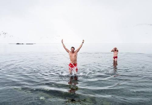 skinny dipping in the arctic