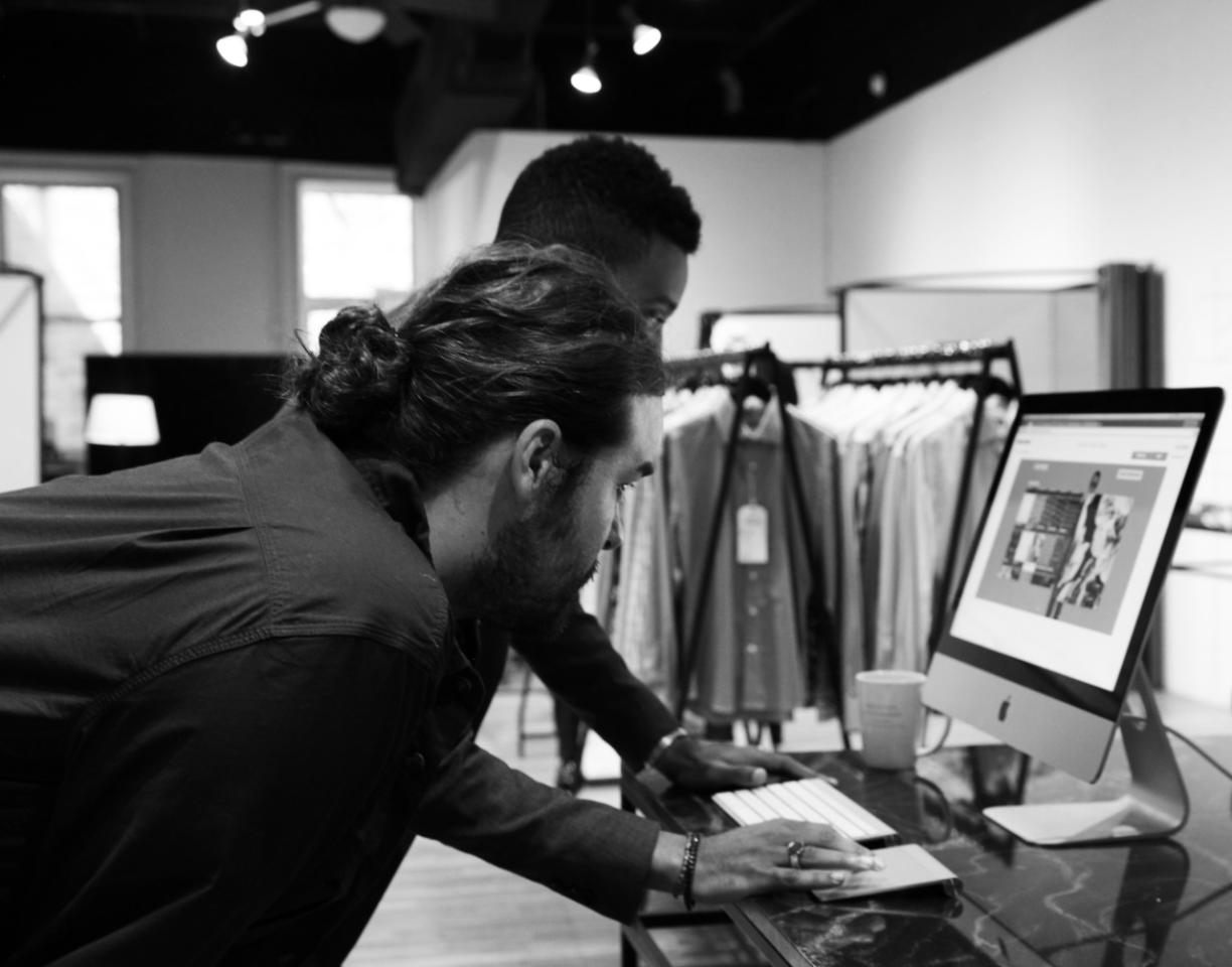 <p>On Indochino's specially designed, interactive site, clients are given the option to select unique personalizations, from monogrammed embroidery to colorful lapel stitches.(Photo: Alexis Brooks for Yahoo Style)</p>