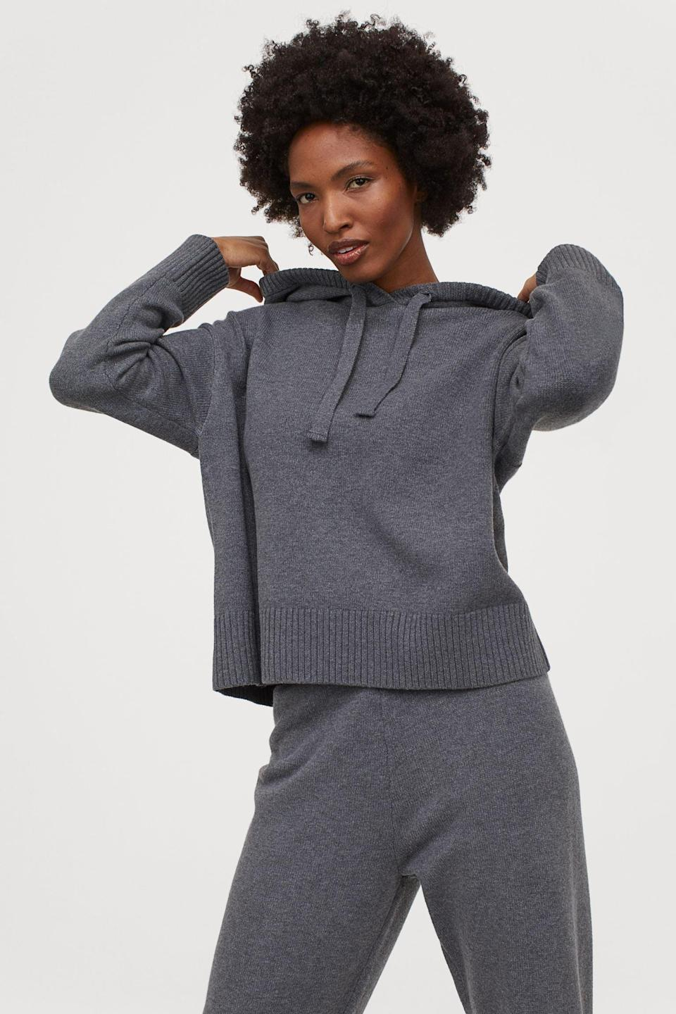 <p>This <span>Knit Hoodie</span> ($30) will be useful on chilly mornings.</p>