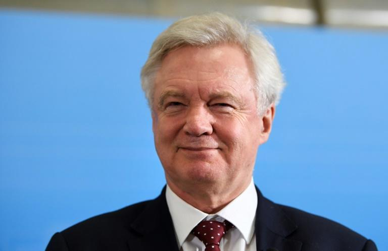 British Secretary of State for Exiting the European Union, David Davis, pictured during a press conference at Rosenbad in Stockholm on February 14, 2017