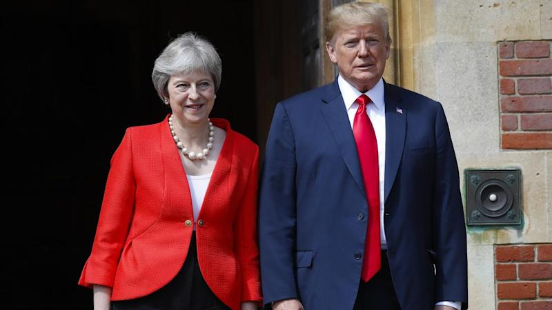 "Donald Trump has blasted British PM Theresa May and argued Europe is ""losing its culture"""