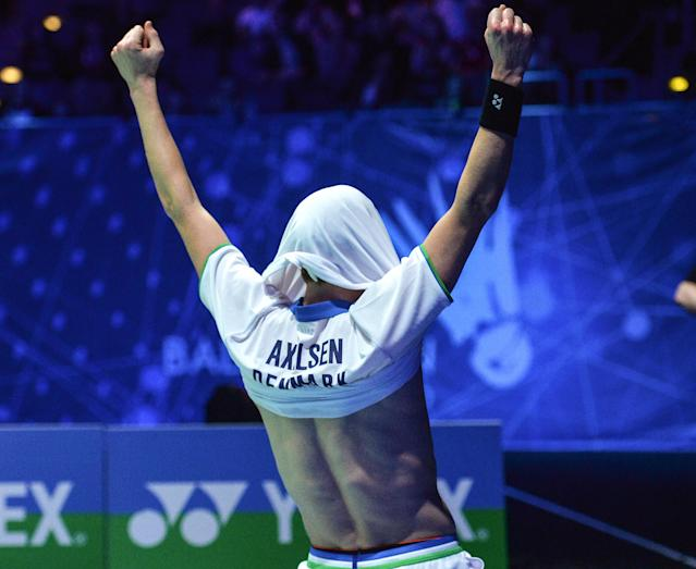 Axelsen was elated with his maiden Yonex All England triumph as he celebrated in front of a packed-out crowd