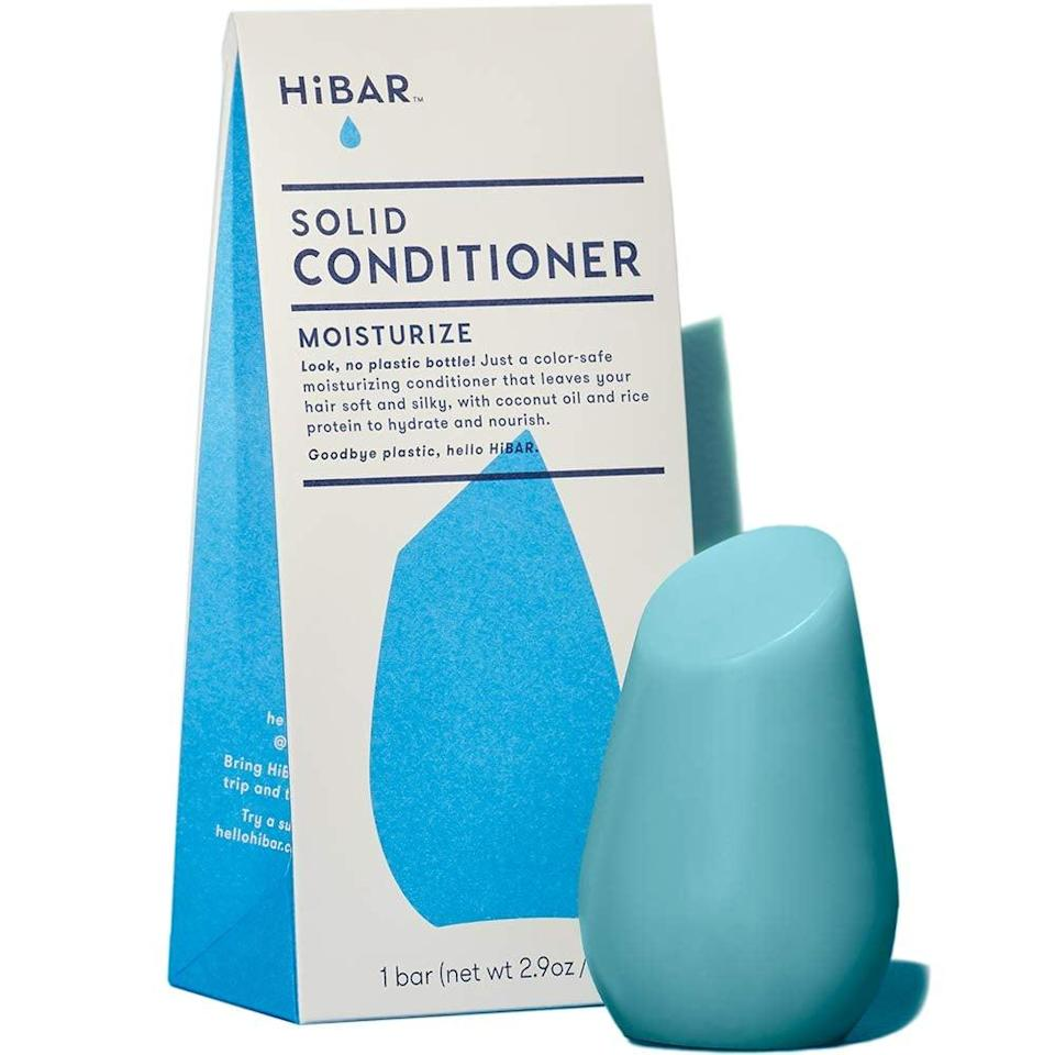 "<p>""As I'm trying to live a more sustainable lifestyle, I was excited to try this <span>HiBar Solid Conditioner</span> ($14). It comes in recyclable paper packaging, and it's used in the same way as a bar of soap - just rub it on your head and hair. I was shocked how moisturizing this little palm-size bar was, and my curls looked more defined and smooth. I'm psyched that it's paraben-free, sulfate-free, plastic-free, cruelty-free, and vegan."" - JS</p>"