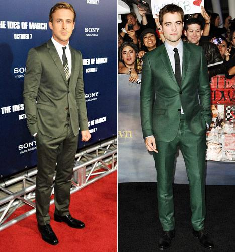Who Looks Sexier in a Green Suit: Ryan Gosling or Robert Pattinson?