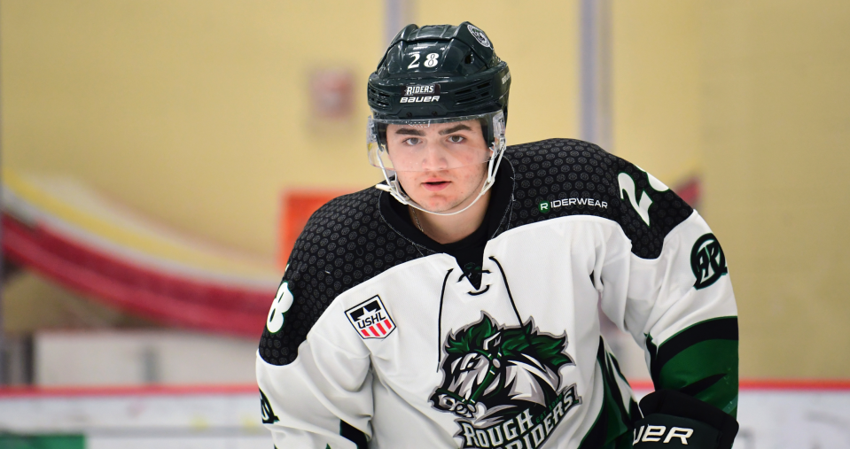 Arizona Coyotes 2020 draft pick Mitchell Miller addressed a disturbing bullying incident involving a disabled, Black classmate four years ago. (Photo credit: Tri-City Storm)