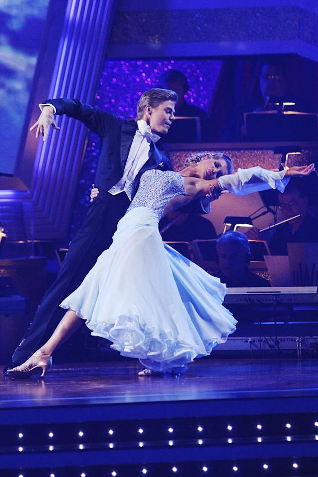 """JoAnne Krupa and Derek Hough perform on """"Dancing with the Stars."""""""