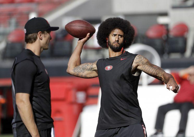 Colin Kaepernick will get his first start of the season on Sunday against Buffalo. (AP)