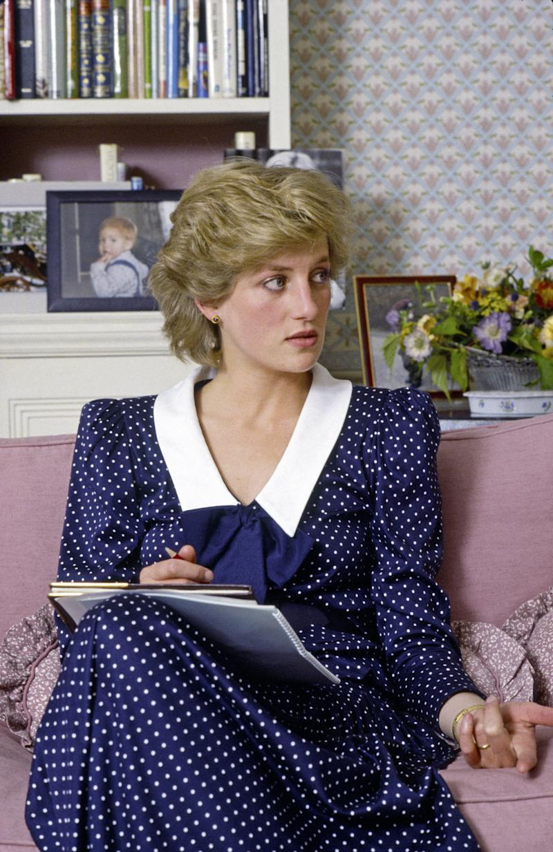 LONDON, UNITED KINGDOM - OCTOBER 06: Diana, The Princess Of Wales, At Home In Kensington Palace (Photo by Tim Graham/Getty Images)