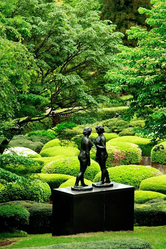 "As Japan's foremost open-air museum, it's also the country's first take at an outdoor permanent art exhibition. In the town of Hakone, this namesake exhibit is a day trip, just two hours south of Tokyo, overlooking the Hakone Mountains. Featuring over a thousand sculptures, it was first <a href=""https://www.hakone-oam.or.jp/en/permanent/?id=6"" rel=""nofollow noopener"" target=""_blank"" data-ylk=""slk:founded in 1969"" class=""link rapid-noclick-resp"">founded in 1969</a> and reopens on June 8. It features more than 100 sculptures, including a collection by Pablo Picasso, as well as by Japanese artists Taro Okamoto, Yasuo Mizui, and Churyo Sato. Not to miss is a sculpture by British artist Barbara Hepworth called <a href=""https://www.hakone-oam.or.jp/en/permanent/?id=22"" rel=""nofollow noopener"" target=""_blank"" data-ylk=""slk:Two Figures"" class=""link rapid-noclick-resp""><em>Two Figures</em></a> from 1968, which the artist said expresses the ""spiritual relationship between landscape and humans."""
