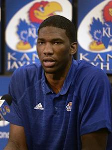 Sources said Embiid's injury was discovered in a physical conducted by the Cavs. (AP Photo)