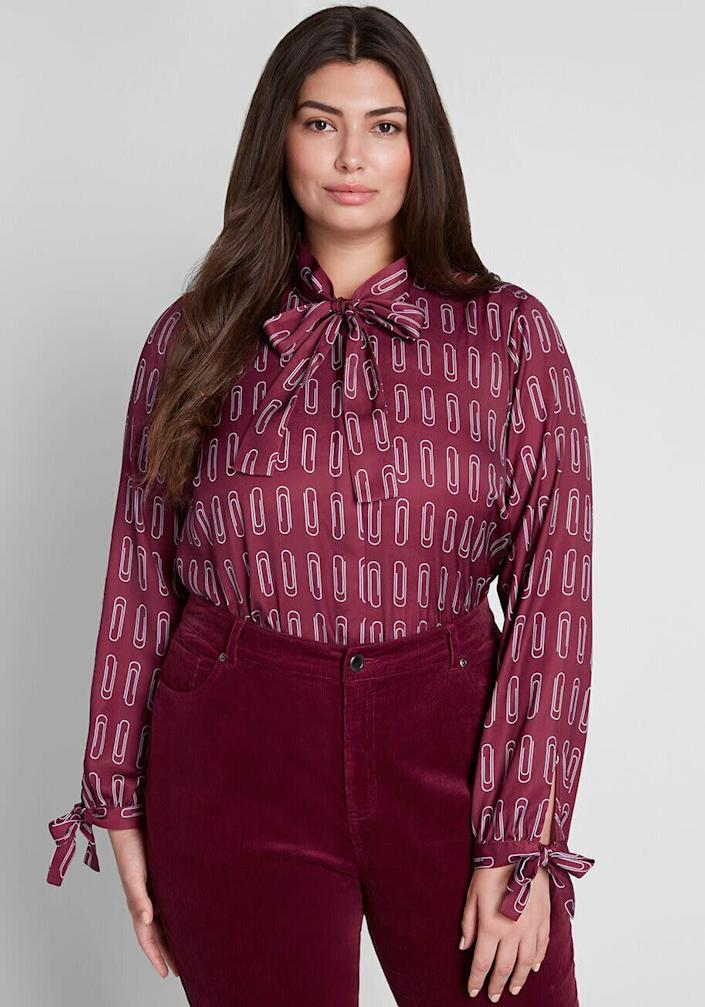 """This top comes in sizes XXS to 4X. <a href=""""https://fave.co/39rCkwF"""" rel=""""nofollow noopener"""" target=""""_blank"""" data-ylk=""""slk:Find it at ModCloth for $49"""" class=""""link rapid-noclick-resp"""">Find it at ModCloth for $49</a>."""
